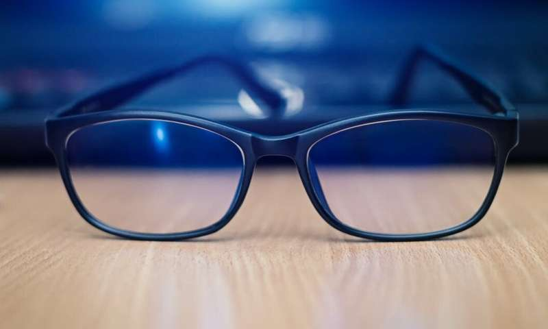 There's no evidence that blue-light blocking glasses help with sleep