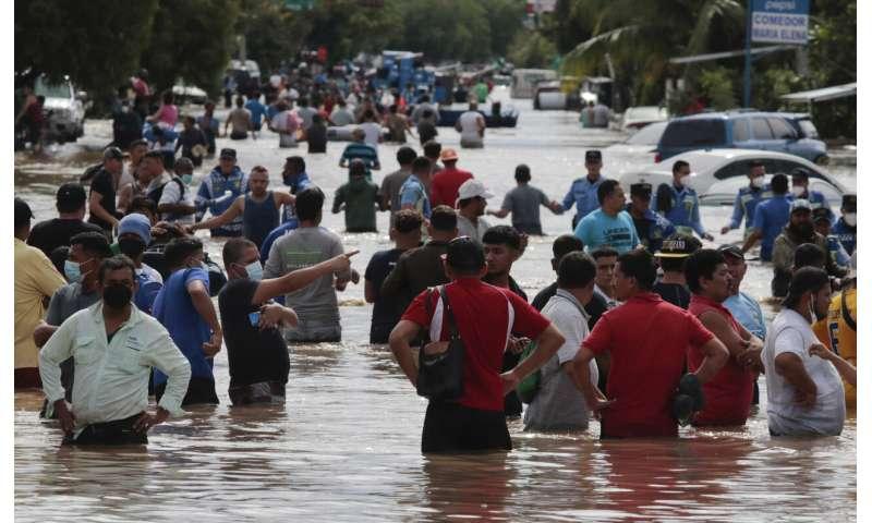 Weakened Eta drenches Honduras; could reach Gulf of Mexico