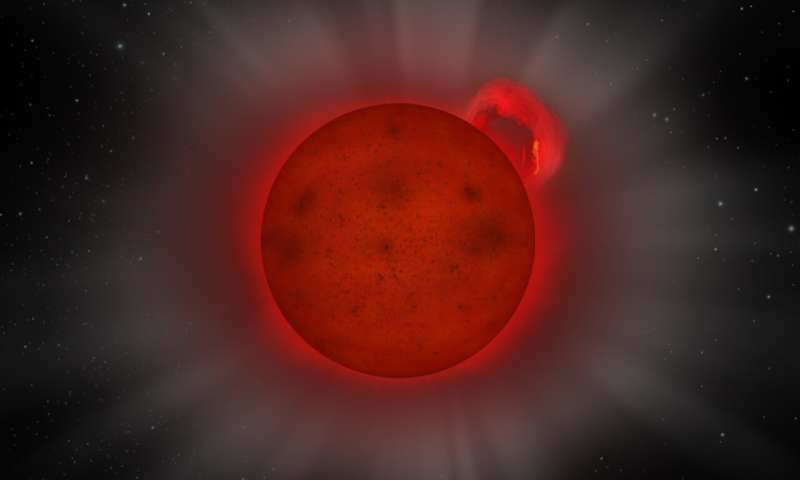 XMM-Newton reveals giant flare from a tiny star
