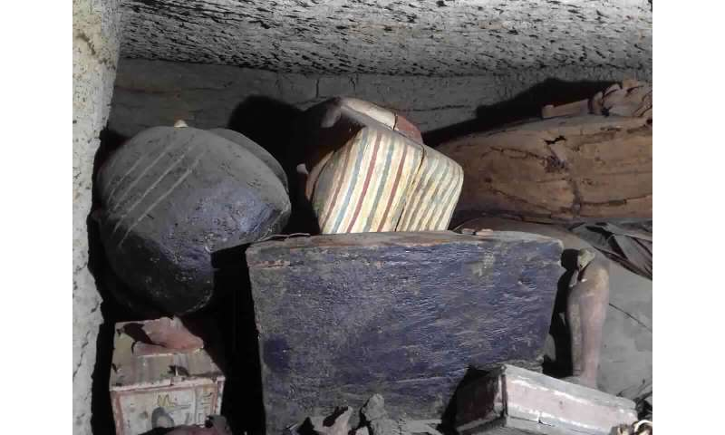 Archaeologists unearth 27 coffins at Egypt's Saqqara pyramid