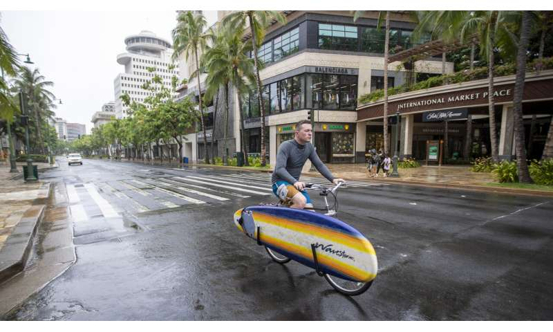 Hurricane Douglas gains strength; skirts the state of Hawaii