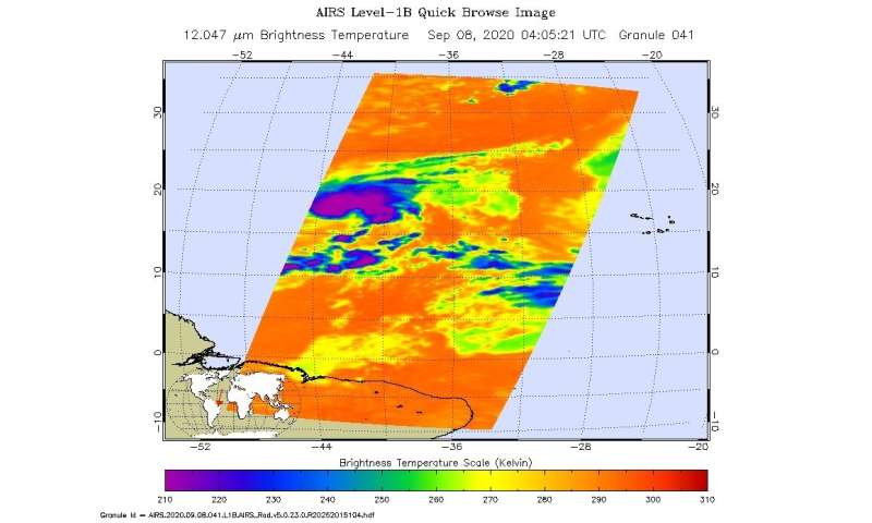NASA-NOAA satellite tracking record-breaking Tropical Storm Paulette