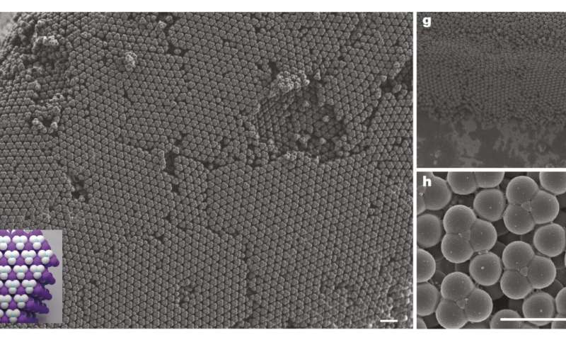 Researchers develop method to create colloidal diamonds