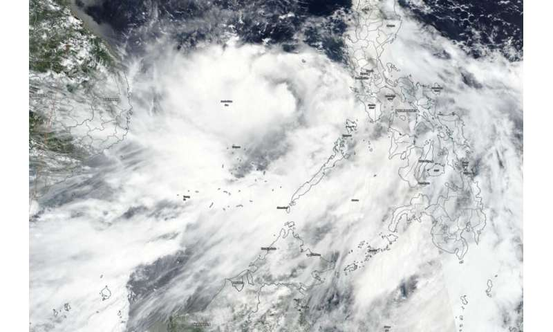 NASA-NOAA satellite finds a strengthening tropical storm Noul NASA-NOAA's Suom