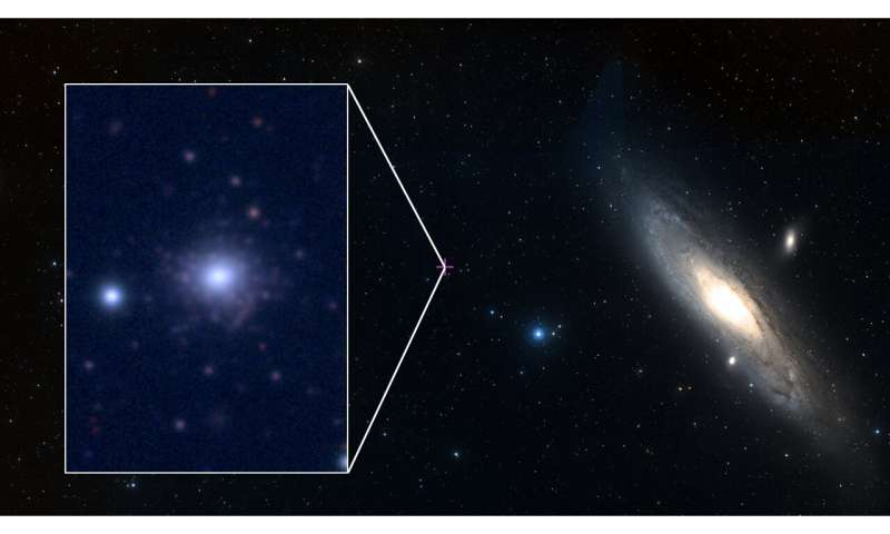 Astronomers discover metal-poor globular cluster by chance