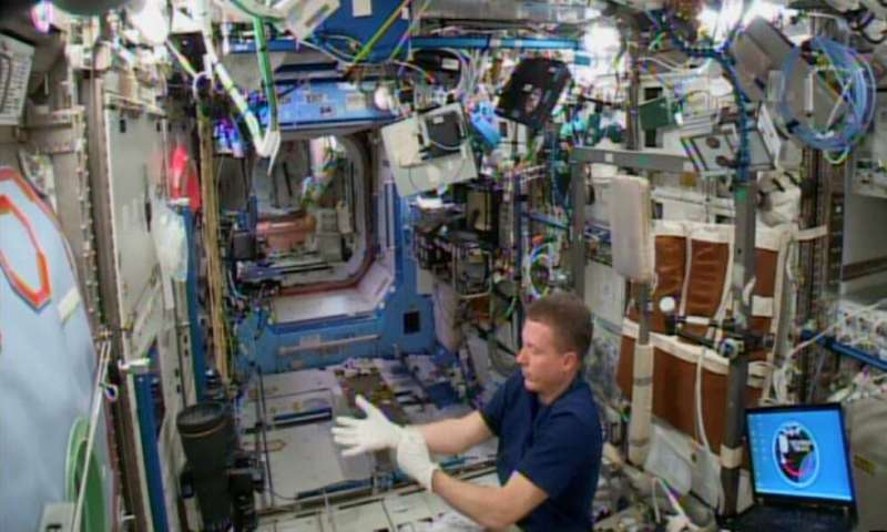 Researchers find space station's surface microbial profile resembles skin of its crew members