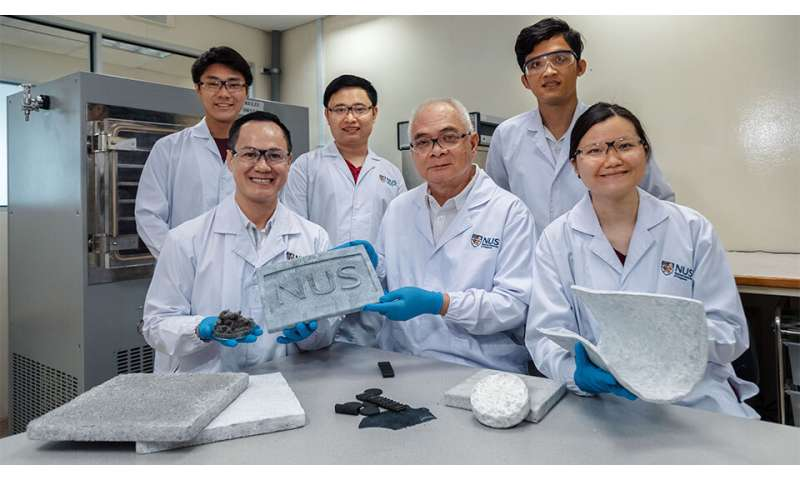Researchers successfully engineer the world's first aerogels made from scrap rubber tyres