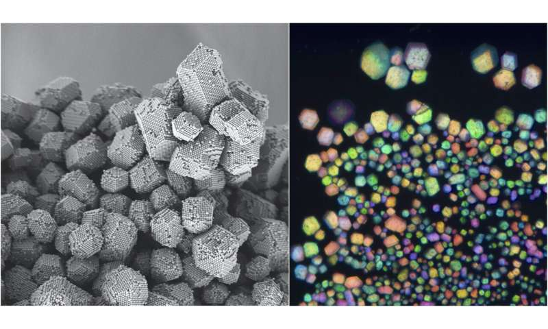 Researchers use electrostatic charge to assemble particles into materials mimicking gemstones, salt