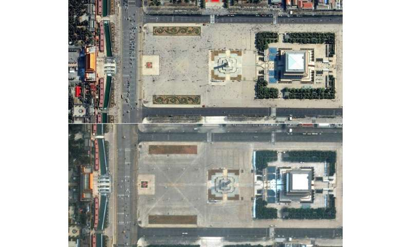 Aerial images reveal virus emptying famed sites