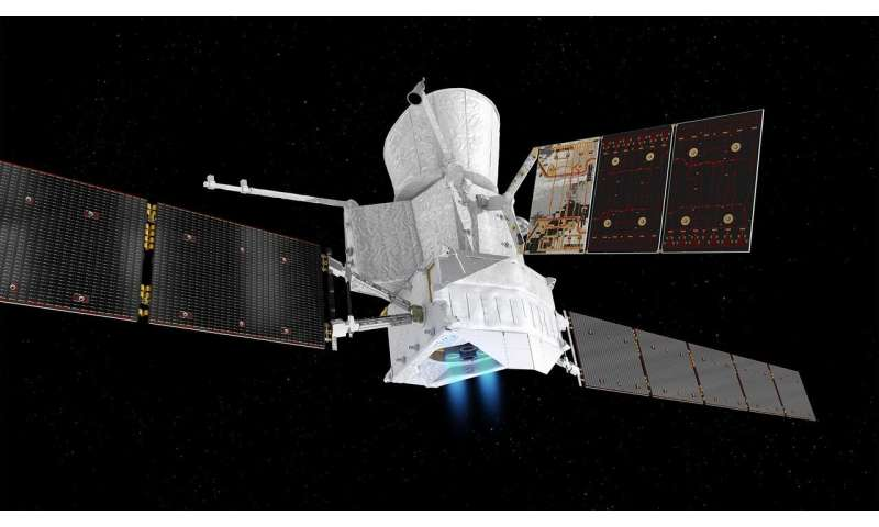 BepiColombo slows down at Venus en route to Mercury