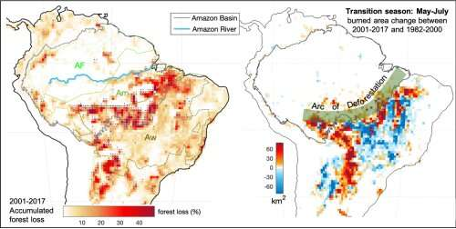 Climate shift, forest loss and fires -- Scientists explain how Amazon forest is trapped in a vicious circle