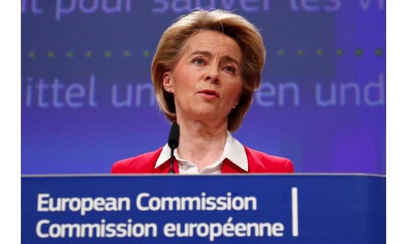 """European Commission President Ursula von der Leyen (pictured April 2, 2020) will hold an """"orientation debate"""" with com"""