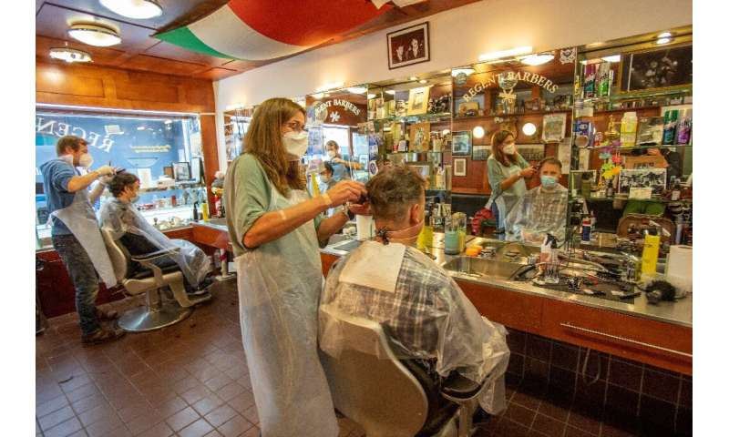 Hairdressers opened for the first time in months in Ireland on Monday