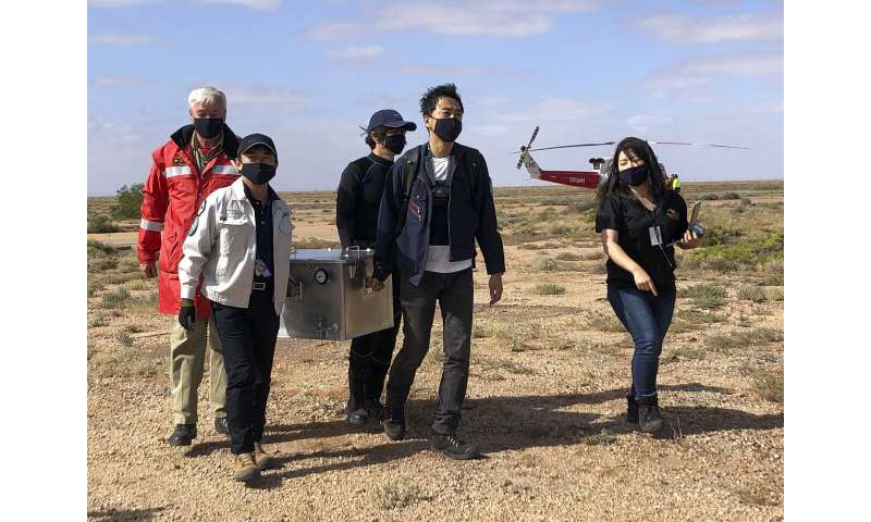 Japan's capsule with asteroid samples retrieved in Australia