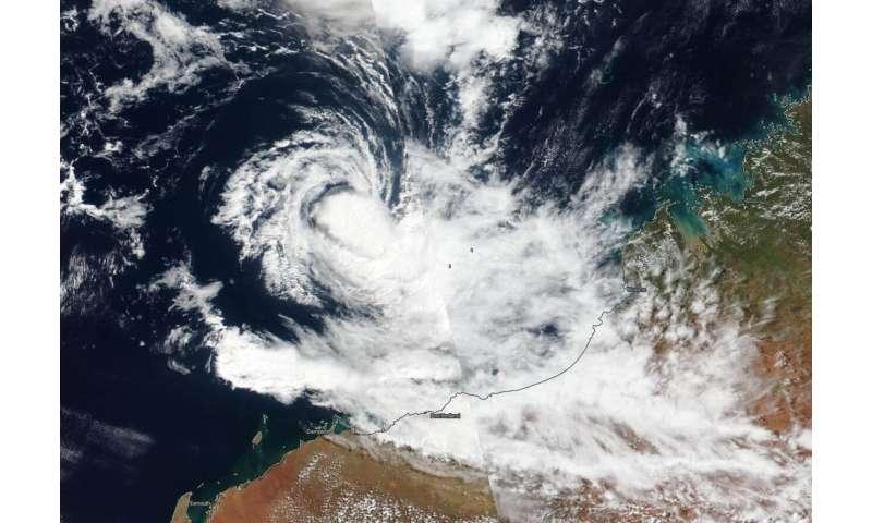 NASA-NOAA satellite catches development of tropical storm 21S