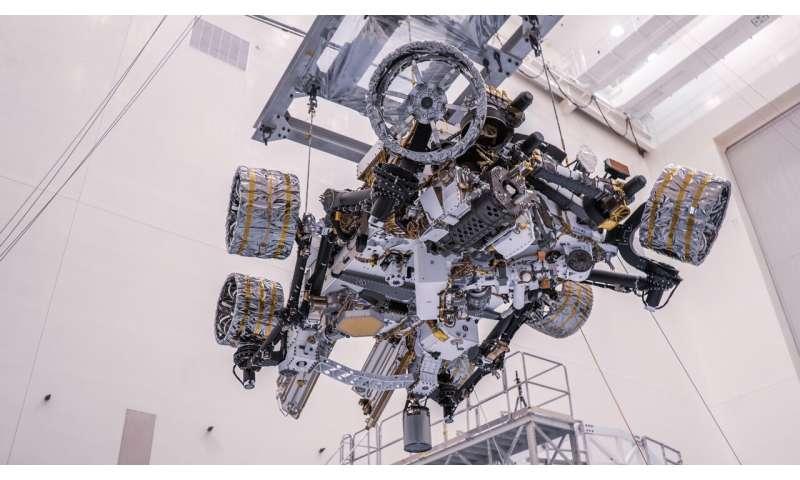 NASA's Mars 2020 Perseverance rover gets balanced