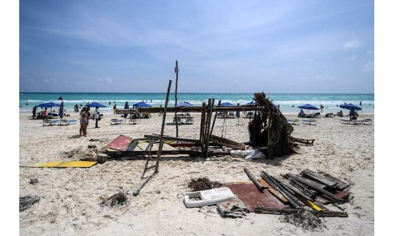 Hurricane Delta earlier swept over the western Gulf of Mexico, but the area escaped widespread damage