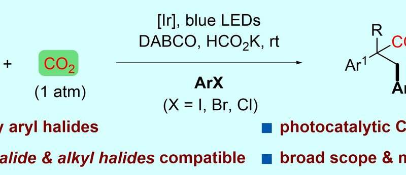 Researchers unveil visible-light-driven arylcarboxylation of styrenes with CO2 and aryl halides