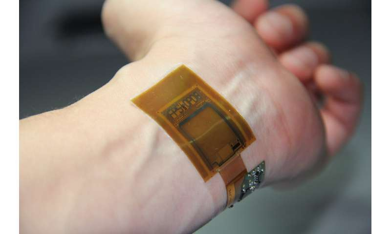 A flexible sensor for biometric authentication and the measurement of vital signs