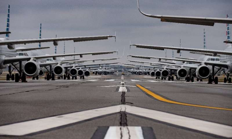 Airlines have been forced to park their planes on runways as COVID-19 lockdowns has shut down most air travel, and caused huge d