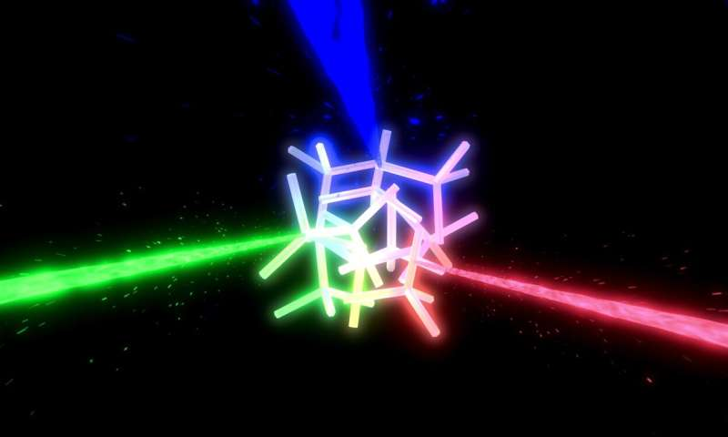 Artificial solid fog material creates pleasant laser light