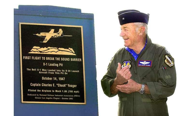 Chuck Yeager, 1st to break sound barrier, dies at 97