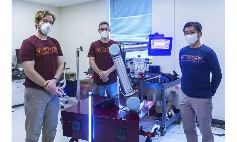 Mechanical engineers develop coronavirus decontamination robot