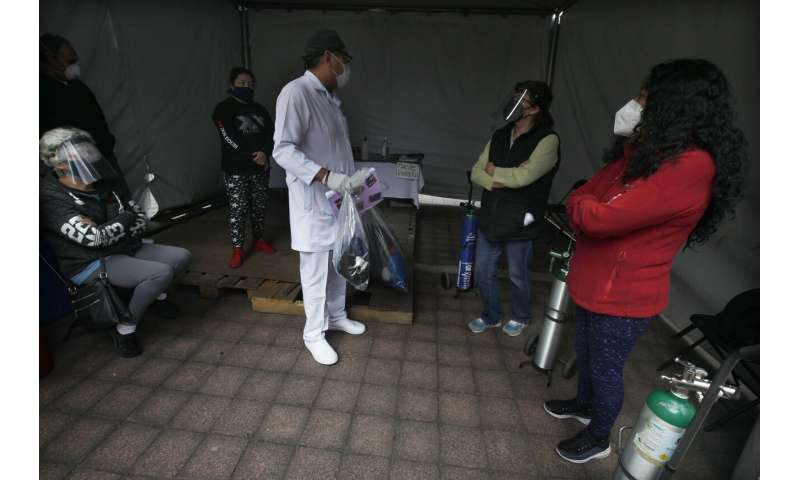 Mexico City hospitals are filling up, but so are the streets