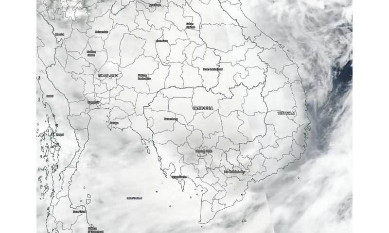 NASA-NOAA's Suomi NPP satellite finds tropical storm Noul fading over Laos