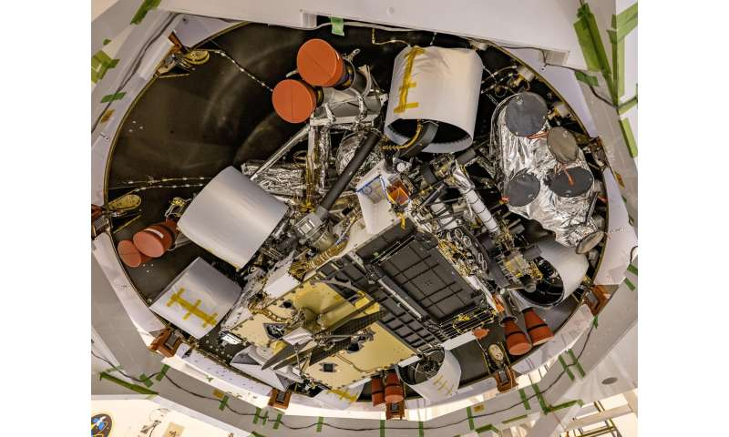 NASA's Perseverance rover spacecraft put in launch configuration