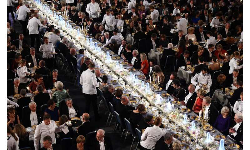 Nobel prize winners, royals and guests attend the 2017 Nobel Banquet