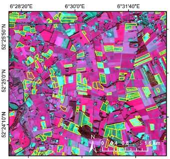 Satellite images help assess effective use of cover crops in Overijssel