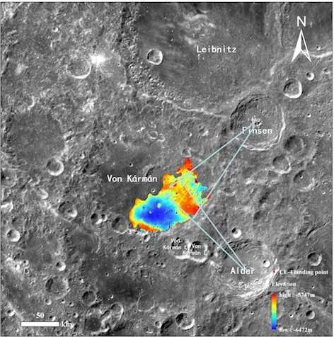 Scientists conduct topographic analysis and mineral retrieval based on Chang'e-4 data