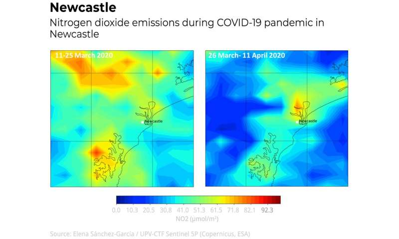 These 5 images show how air pollution changed over Australia's major cities before and after lockdown