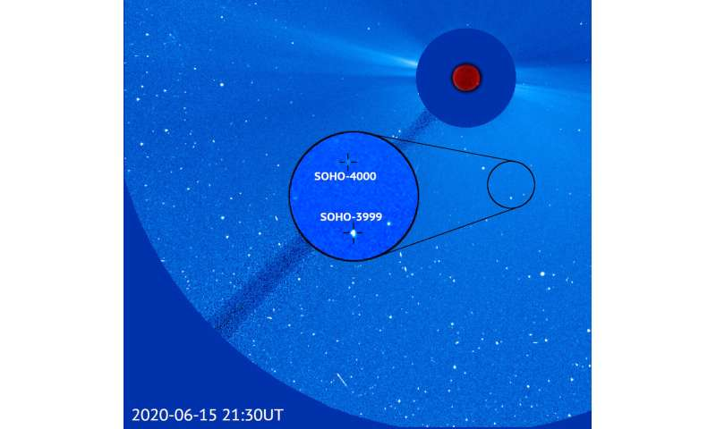 4,000th comet discovered by solar observatory