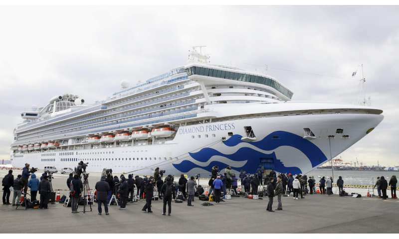 10 more sick with virus on one of two isolated cruise ships