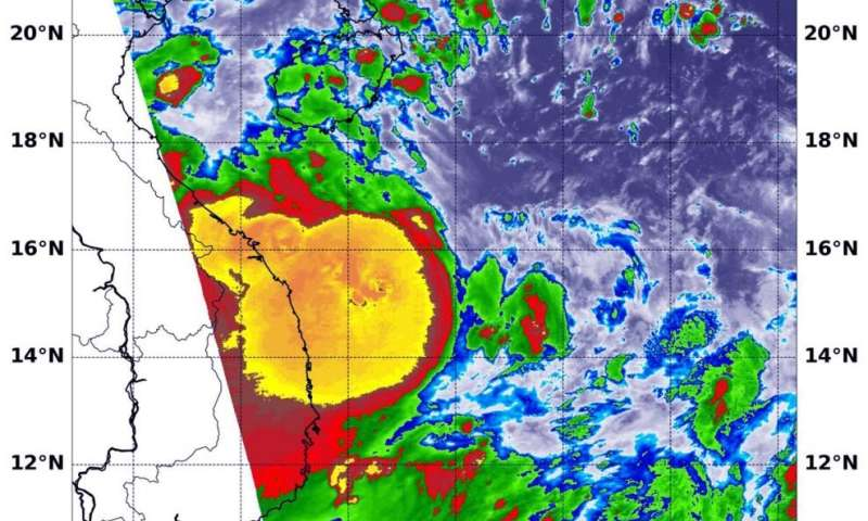 NASA finds tropical storm Noul packing a punch