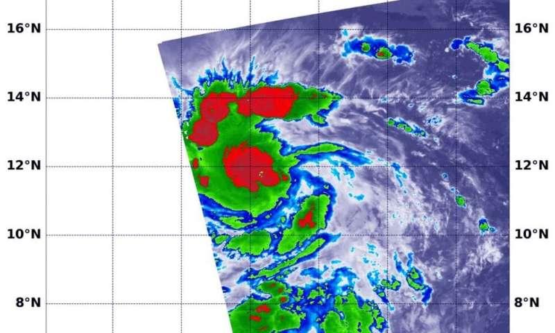NASA infrared confirms Douglas still a tropical storm