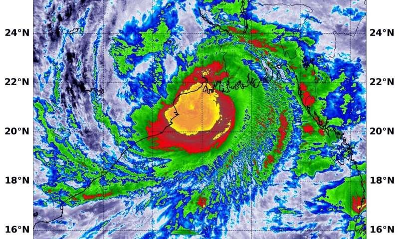 NASA satellites covering typhoon Amphan headed for landfall