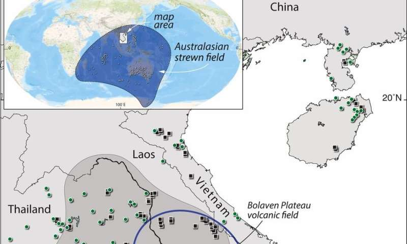 Evidence suggests ancient impact crater buried under Bolaven volcanic field