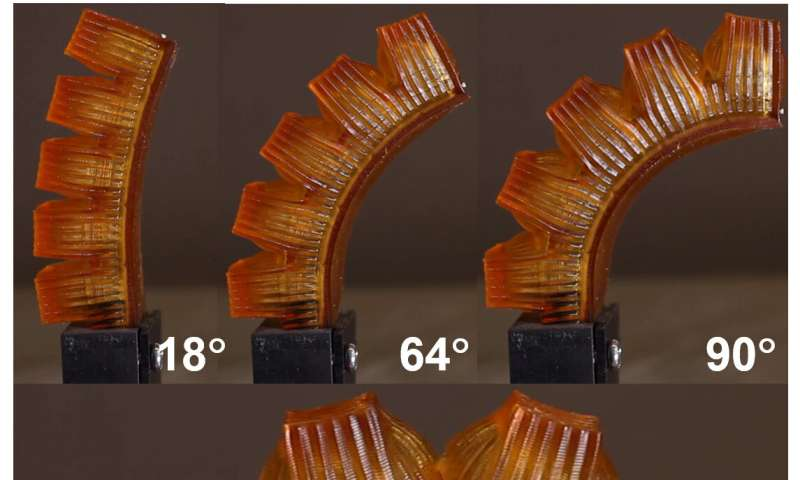 Researchers create 3-D-printed, sweating robot muscle