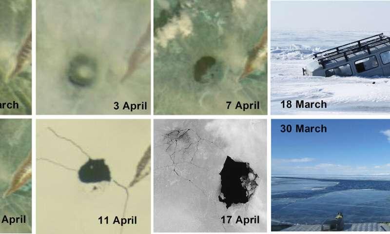 Uma possível explicação para os misteriosos círculos de gelo no lago Baikal