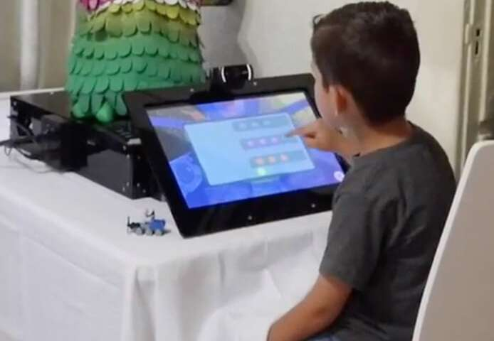 Socially assistive robot helps children with autism learn
