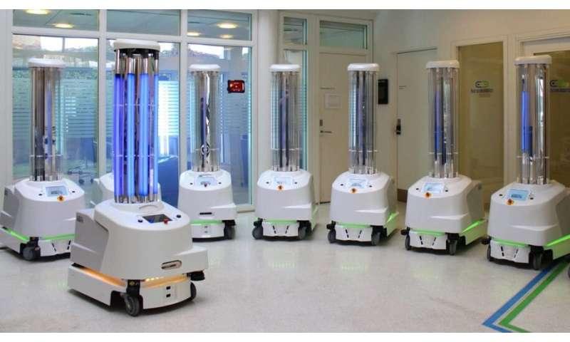 Robots vs coronavirus