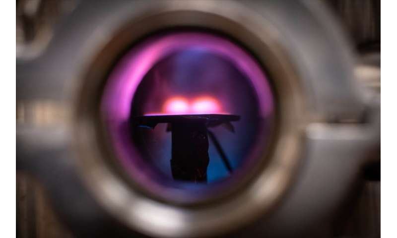 Plasma electrons can be used to produce metallic films