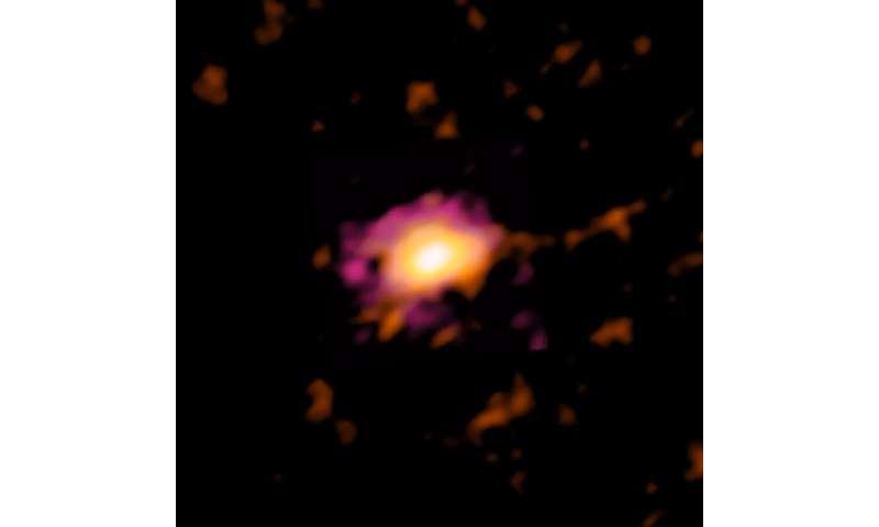 Astronomové objevili nejvzdálenější (a nejstarší) galaxii s rotujícím diskem