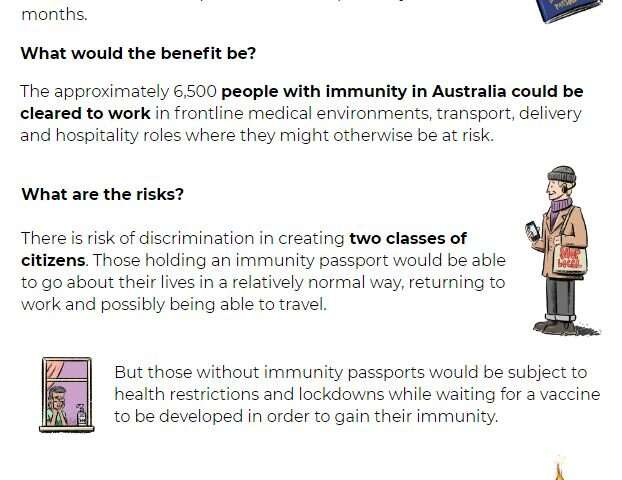 Immunity passports could help end lockdown, but risk class divides and intentional infections