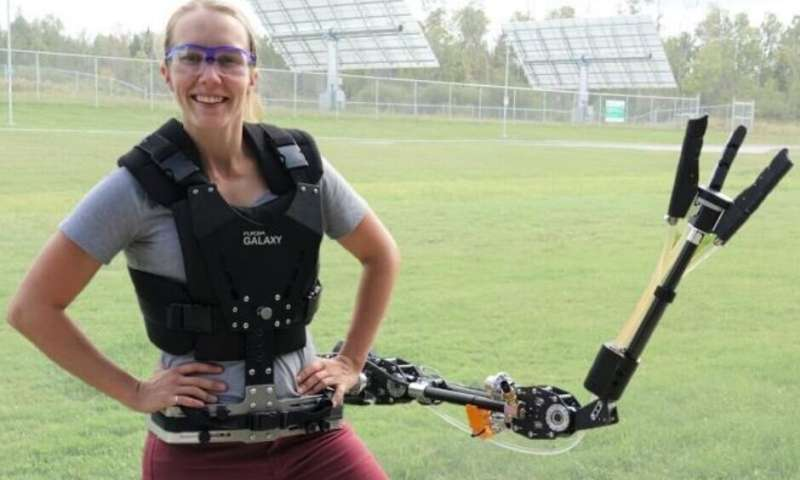A supernumerary robotic arm adds functionality for carrying out common tasks