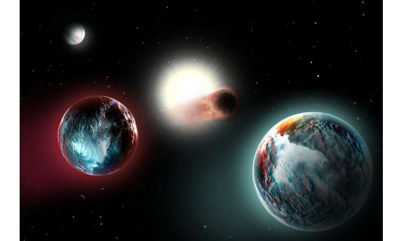 Four newborn exoplanets get cooked by their sun