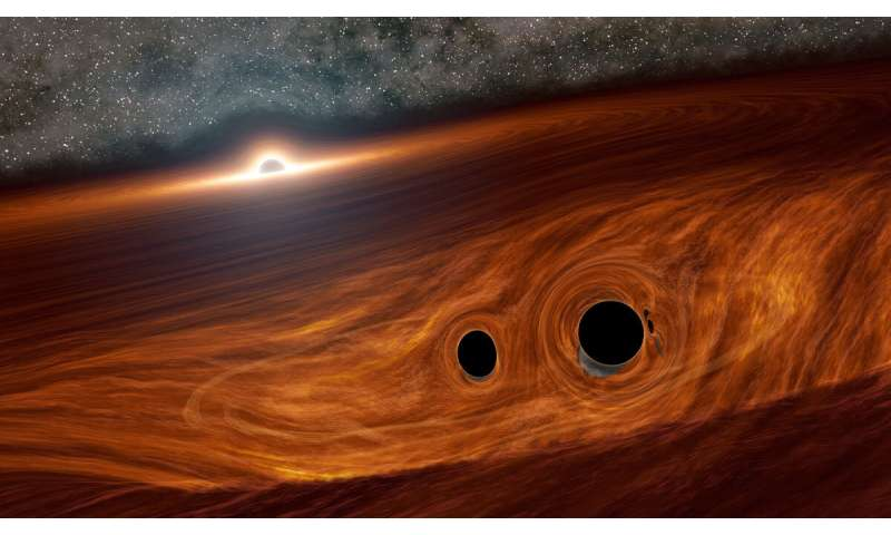 Black hole collision may have exploded with light